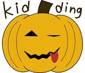 pumpkin face cartoon emotion expression joke