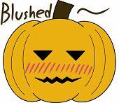 pumpkin face cartoon emotion expression shy