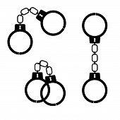 Handcuff Black Vector