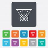 Basketball basket icon. Sport symbol.