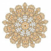 Lace  Floral Colorful Ethnic Ornament Kaleidoscop
