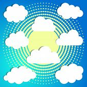 Clouds On Halftone Background