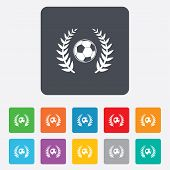 Football ball sign icon. Soccer Sport symbol.