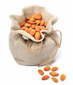 Sack Bag Full Of Almonds