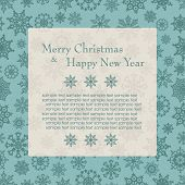 Christmas card with snowflakes. Vector illustration