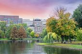foto of common  - Fall colors Boston Common and Public Garden Boston USA - JPG
