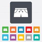 Women's sport shorts sign icon. Clothing symbol.