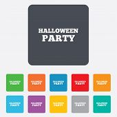 Halloween pumpkin sign icon. Halloween party.