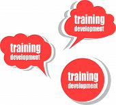 Training Development. Set Of Stickers, Labels, Tags. Business Banners, Template For Infographics