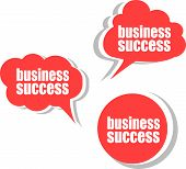 Business Success. Set Of Stickers, Labels, Tags. Business Banners, Template For Infographics