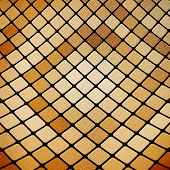 Abstract mosaic, wooden design background vector
