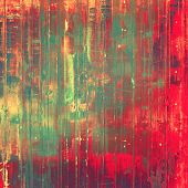 Old-style background, aging texture. With different color patterns: red, orange, green