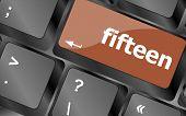 Fifteen Button On Computer Pc Keyboard Key