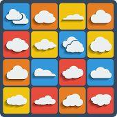 Vector Cloud Shapes Set