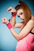 picture of delinquency  - Teen crime arrest and jail  - JPG