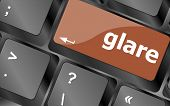 Glare Word On Keyboard Key, Notebook Computer Button