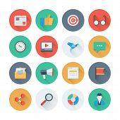 Pixel Perfect Digital Marketing Flat Icons