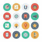 Pixel Perfect Seo Services Flat Icons