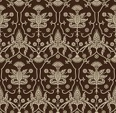 Seamless background with beige ornaments