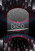 Retro Neon Disco Party Flyer Template - Vector Illustration