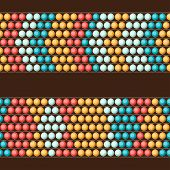 stock photo of curio  - Ethnic African beads abstract color seamless pattern - JPG