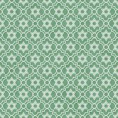 Green And White Star Of David Repeat Pattern Background