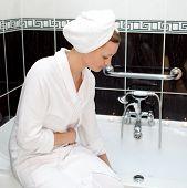 Attractive Young Woman Preparing Her Bubble Bath