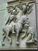 High relief at the west door of the Cathedral of St. Vitus