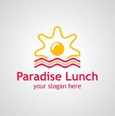 Paradise Lunch Vector Logo Design