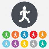 Running sign icon. Human sport symbol.
