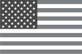 foto of grayscale  - An Illustrated grayscale flag of the country of United States of America - JPG