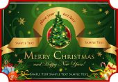 Christmas classic background  for greeting cards, banners, presentations, decorations.