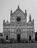 Facade Of The Famous Basilica Of Santa Croce In Florence