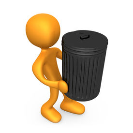 picture of recycle bin  - Computer generated image  - JPG