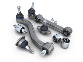 picture of suspension  - Suspension arm and ball joint car  - JPG