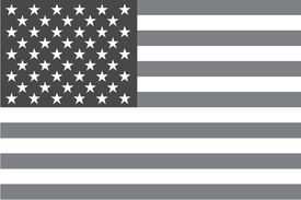 stock photo of grayscale  - An Illustrated grayscale flag of the country of United States of America - JPG
