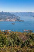 stock photo of lagos  - View of coastline of  Lago Maggiore - JPG
