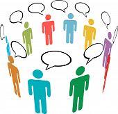 Symbol People Colors Social Media Network Group Talk