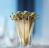 pic of sticks  - Wooden stick stirrers and canape sticks  toothpick - JPG