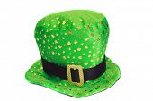 stock photo of mad hatter  - Fun and Funny Hat aka Mad Hatter Hat isolated on white - JPG