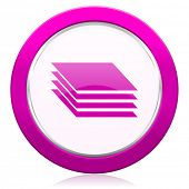 stock photo of gage  - layers violet icon gages sign  - JPG