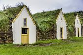 picture of iceland farm  - Traditional Icelandic Turf Houses in West Iceland - JPG