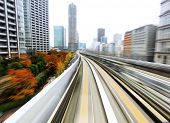 pic of high-speed train  - Speed train moving - JPG