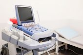 foto of ultrasound machine  - Medical ultrasound diagnostic machine - JPG