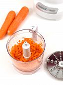 image of food processor  - A food processor on a kitchen bench - JPG