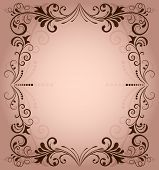 foto of pinky  - Floral frame for invitation with copy space - JPG