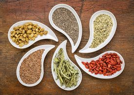 stock photo of seed  - superfood samples   - JPG