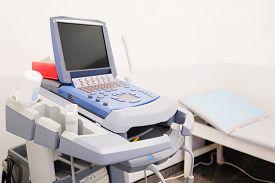 picture of ultrasonic  - Medical ultrasound diagnostic machine - JPG