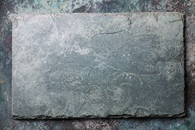 foto of slating  - Gray stone slate background texture surface design - JPG