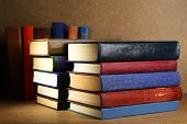 picture of book-shelf  - Old books on shelf - JPG